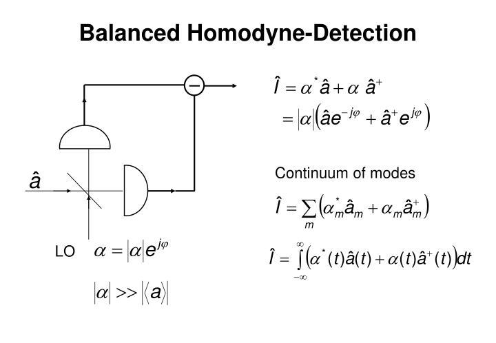 Balanced Homodyne-Detection