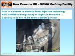 drax power in uk 500mw co firing facility