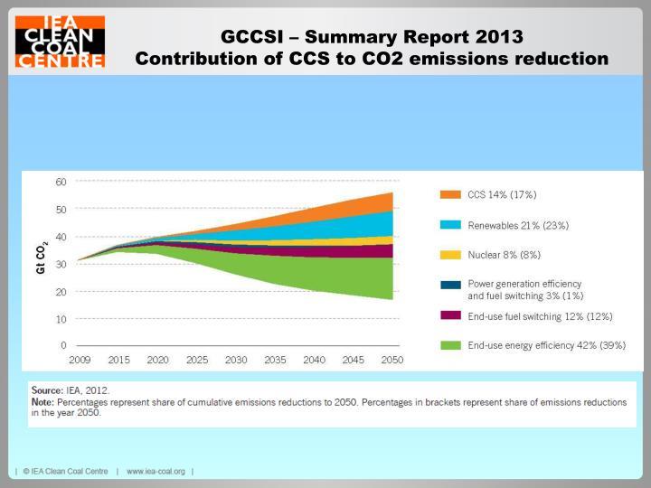 GCCSI – Summary Report 2013