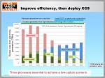 improve efficiency then deploy ccs