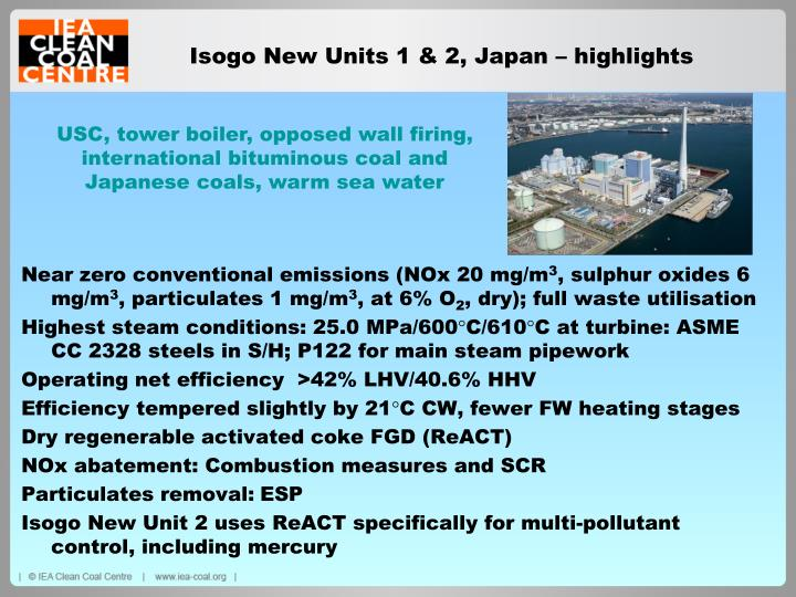 Isogo New Units 1 & 2, Japan – highlights