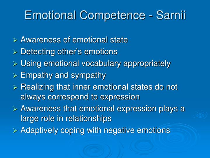Emotional Competence - Sarnii