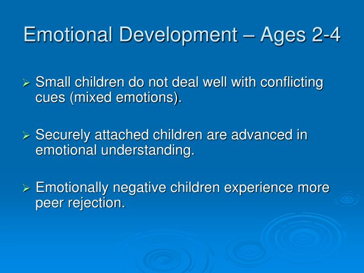 Emotional Development – Ages 2-4