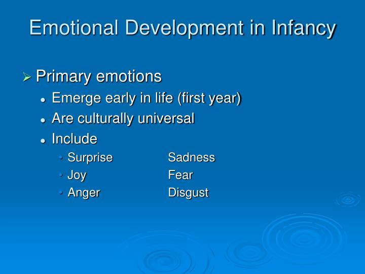Emotional Development in Infancy