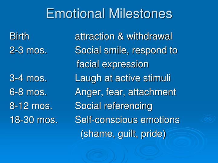 Emotional Milestones