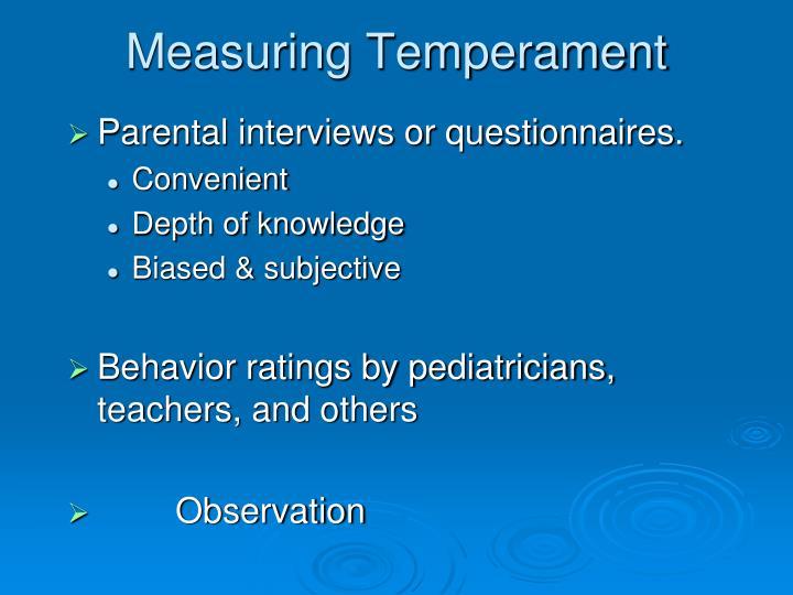 Measuring Temperament