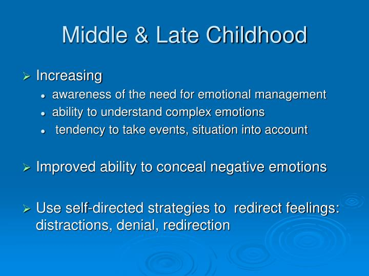 Middle & Late Childhood