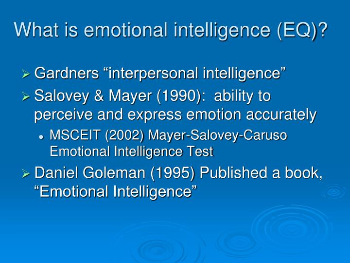 What is emotional intelligence (EQ)?