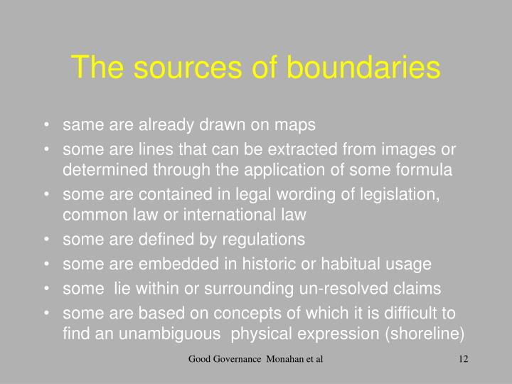 The sources of boundaries