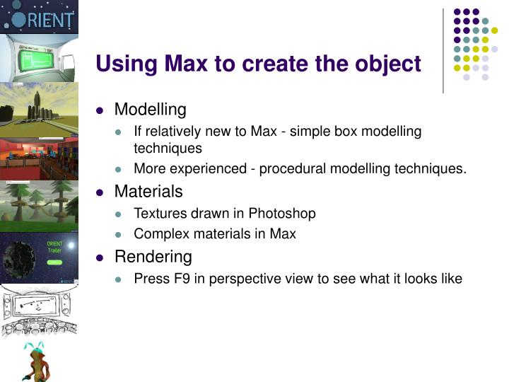 Using Max to create the object