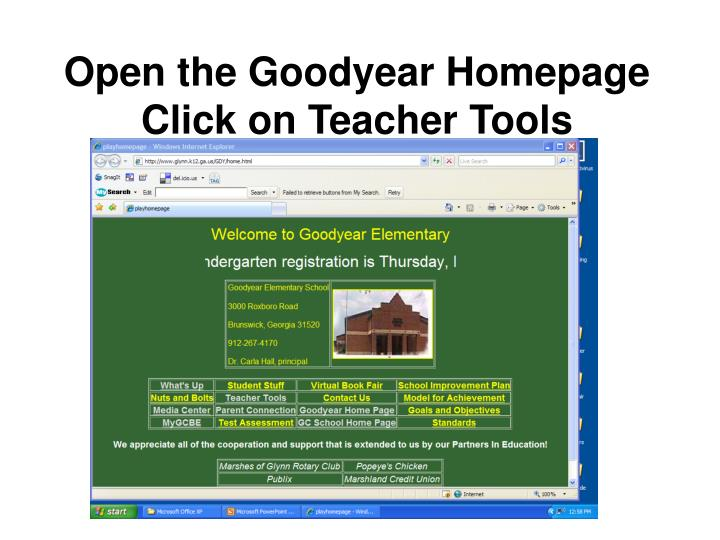 Open the Goodyear Homepage