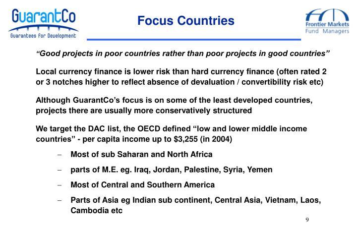 Focus Countries