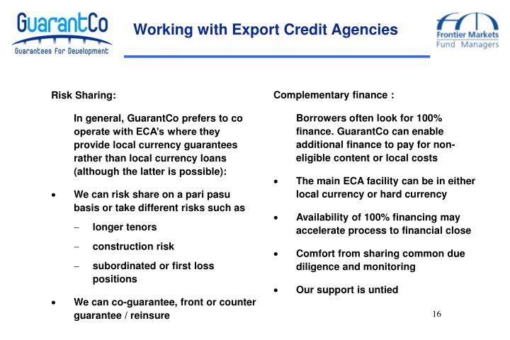 Working with Export Credit Agencies