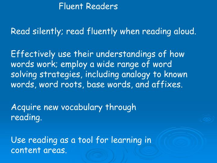 Fluent Readers