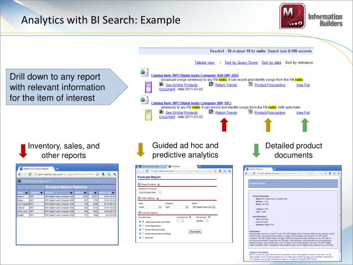 Analytics with BI Search: Example