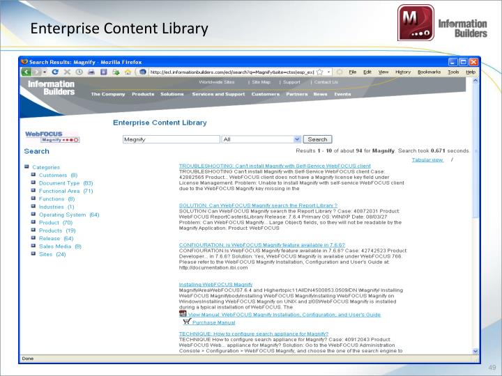 Enterprise Content Library