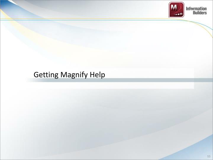 Getting Magnify Help