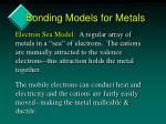 bonding models for metals1