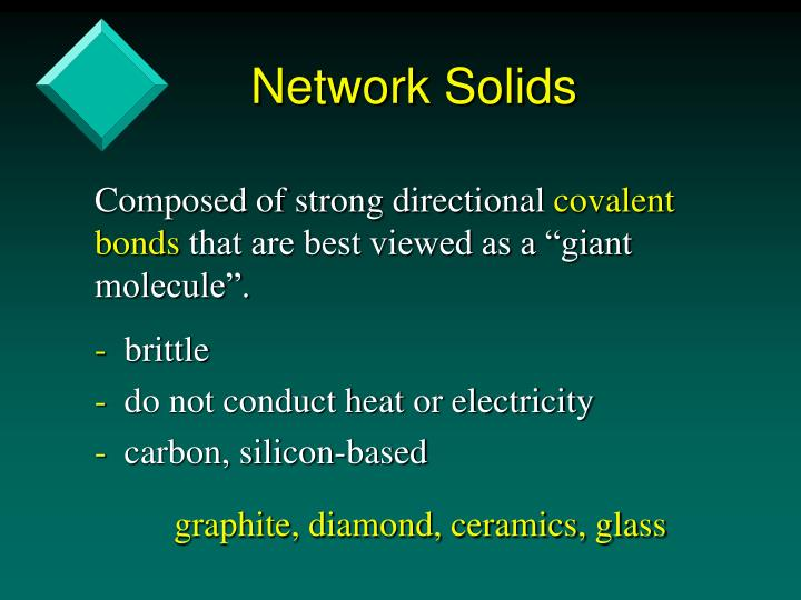 Network Solids
