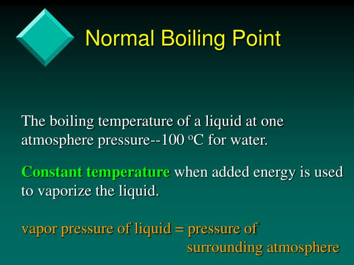 Normal Boiling Point