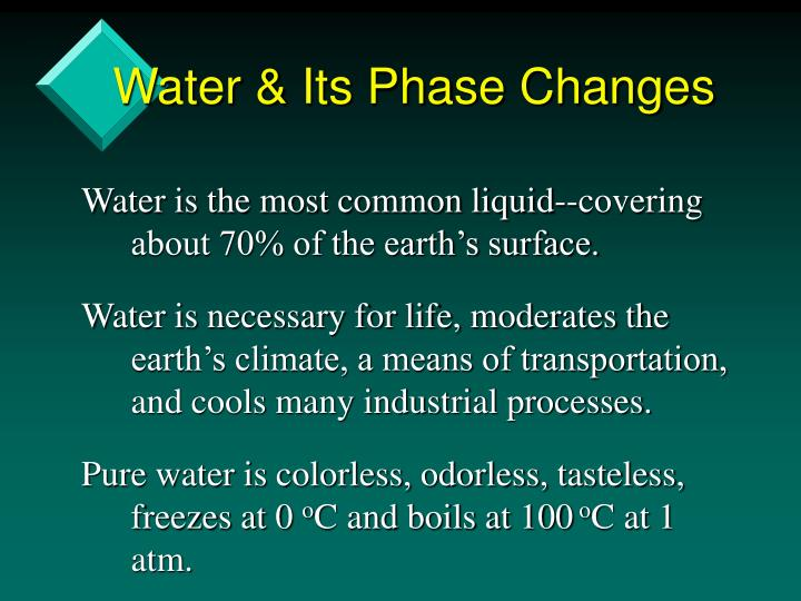 Water & Its Phase Changes