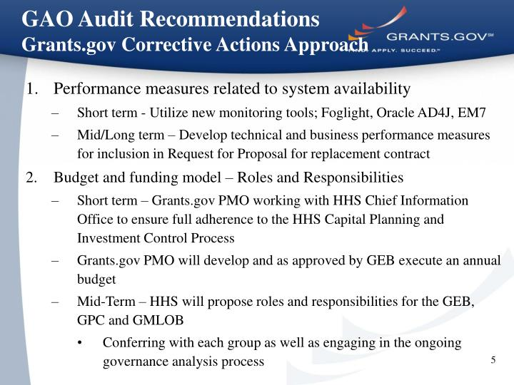GAO Audit Recommendations
