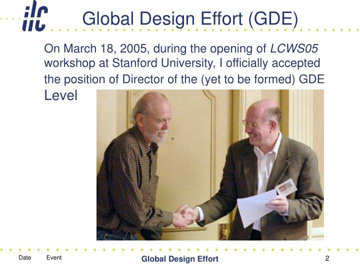 Global design effort gde