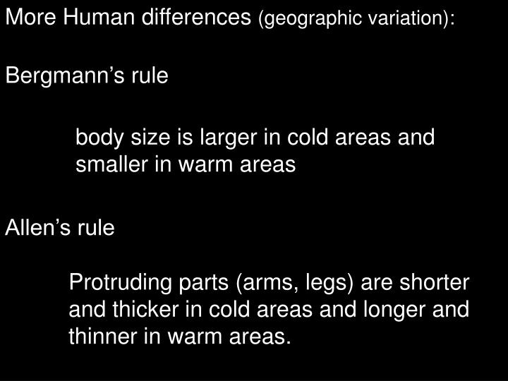More Human differences