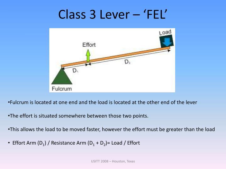 Class 3 Lever – 'FEL'
