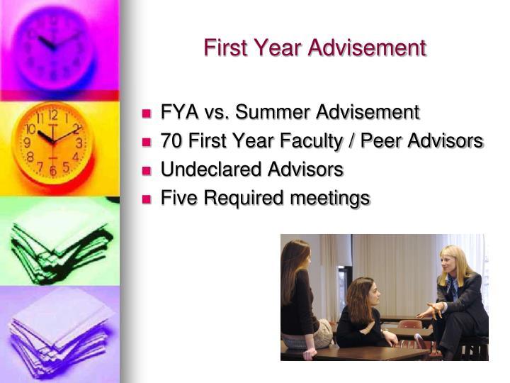 First Year Advisement