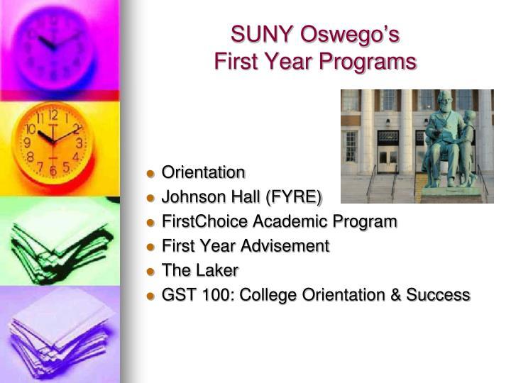 SUNY Oswego's