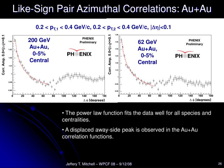 Like-Sign Pair Azimuthal Correlations: Au+Au