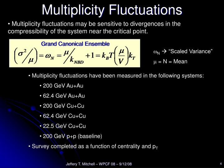 Multiplicity Fluctuations