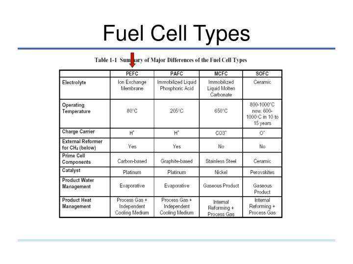 Fuel Cell Types