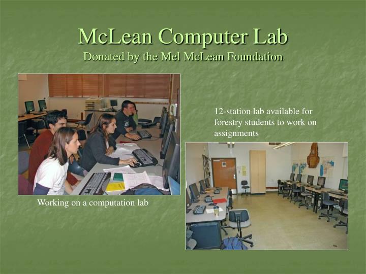 McLean Computer Lab