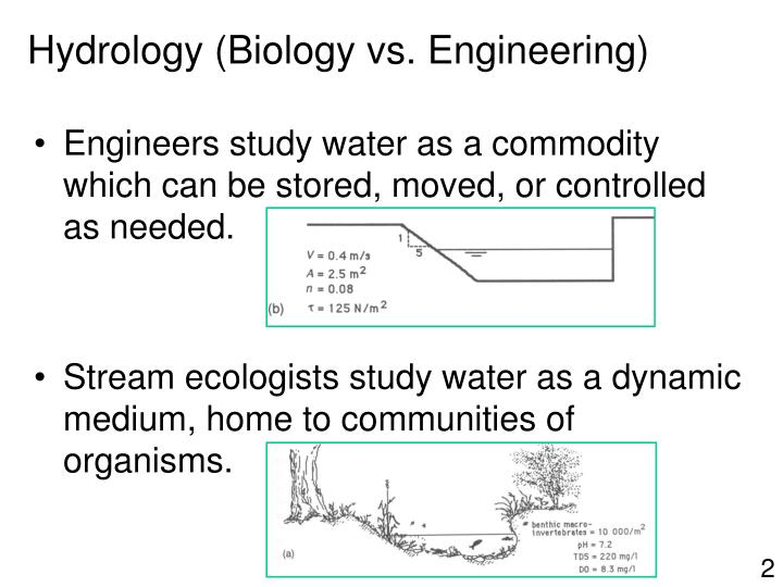 Engineers study water as a commodity which can be stored, moved, or controlled as needed.