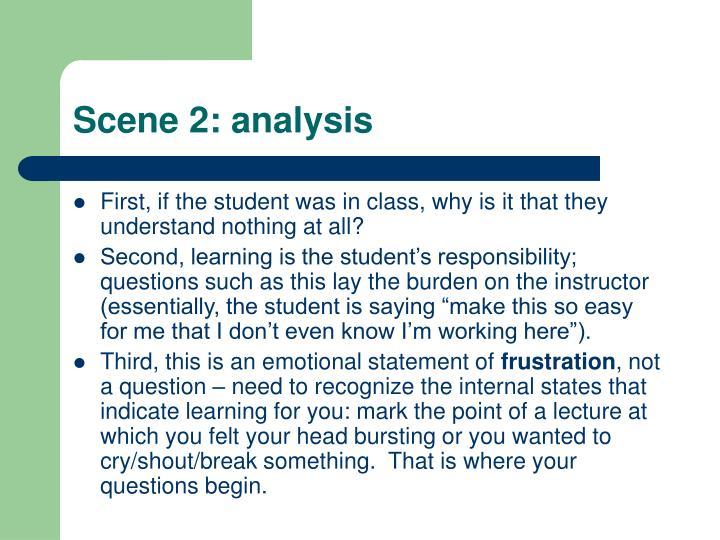 Scene 2: analysis