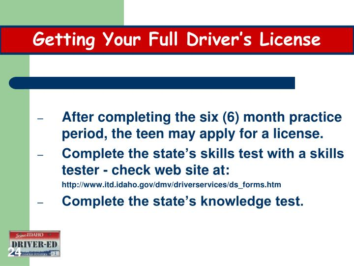 Getting Your Full Driver's License