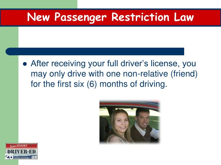 New Passenger Restriction Law