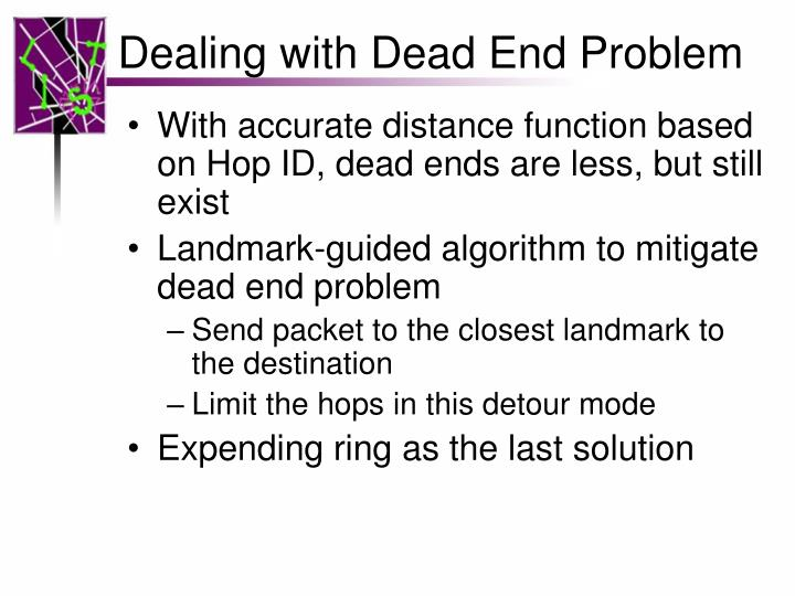 Dealing with Dead End Problem