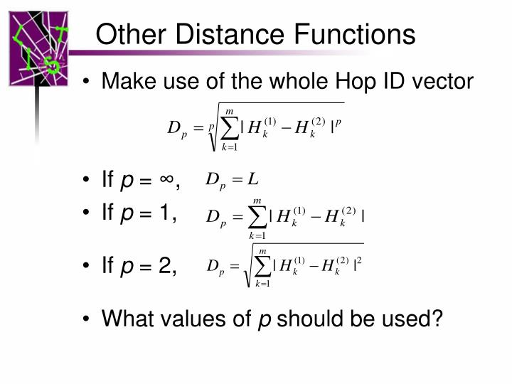 Other Distance Functions