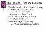 the practical distance function