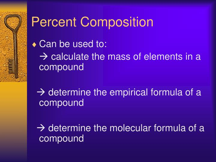 Percent composition1