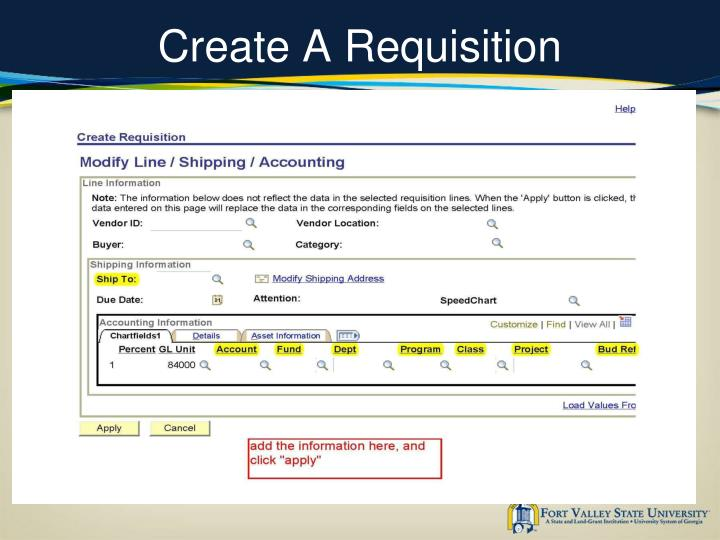 Create A Requisition