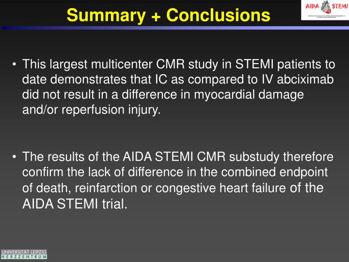 Summary + Conclusions