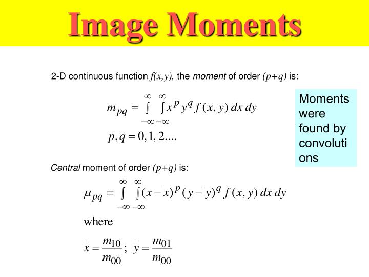 Image Moments