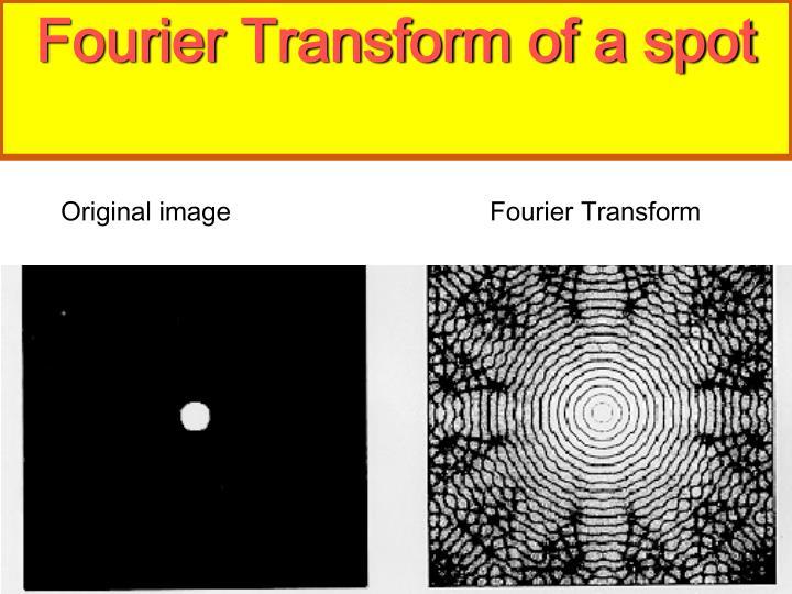 Fourier Transform of a spot