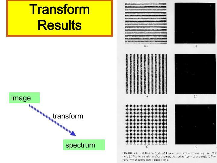 Transform Results