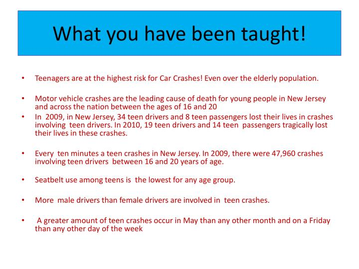 What you have been taught!