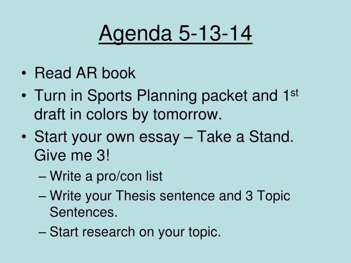 Agenda 5-13-14